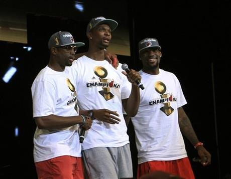 Chris Bosh, Dwyane Wade, LeBron James