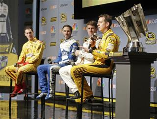Kyle Busch, Joey Logano, Jimmie Johnson, Carl Edwards