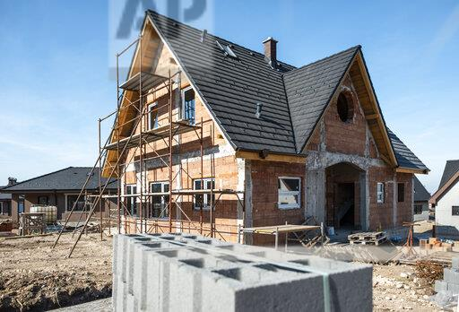 Bulgaria, Plovdiv, one-family house under construction