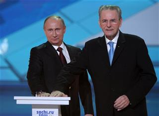 Vladimir Putin, Jaques Rogge