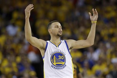 Basketball camper drops to floor after meeting Steph Curry