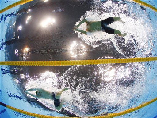 London Olympics Swimming Underwater Video