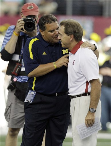 Brady Hoke, Nick Saban