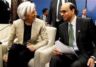 Christine Lagarde, Tharman Shanmugaratnam