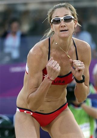 CORRECTION London Olympics Beach Volleyball Women