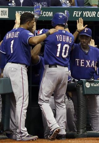 Elvis Andrus, Ron Washington, Michael Young