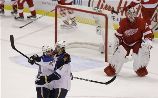 Patrik Berglund, T.J. Oshie, Jimmy Howard