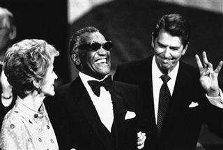 Ronald Reagan, Nancy Reagan, Ray Charles