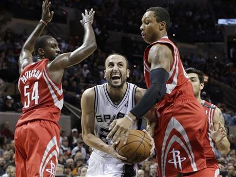 Patrick Patterson, Greg Smith, Manu Ginobili