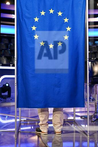 "Election booth for European elections in the studio of ""Who Wants To Be A Millionaire?"""