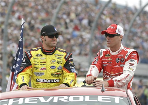 Paul Menard, Kevin Harvick