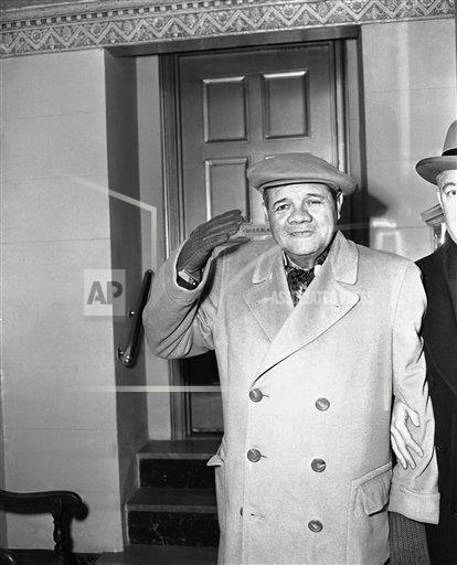 Watchf Associated Press Sports Professional Baseball (American League) New York United States APHS176489 Babe Ruth 1948
