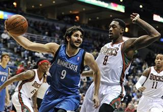 Ricky Rubio, Larry Sanders