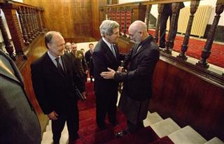 John Kerry, Hamid Karzai, James Cunningham