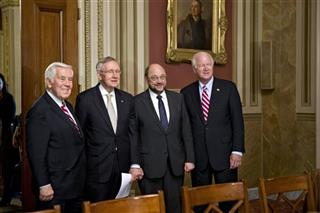 Richard Lugar, Harry Reid, Martin Schulz, Saxby Chambliss