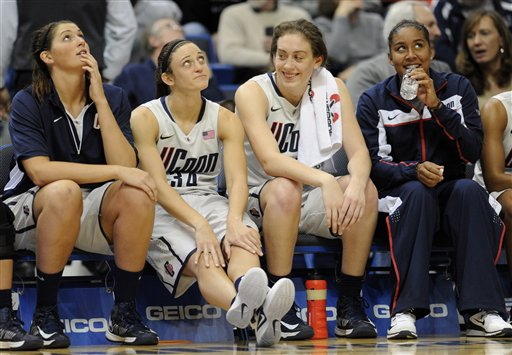 Stefanie Dolson, Kelly Faris, Breanna Stewart, Kaleena Mosqueda-Lewis