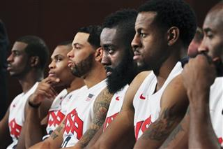 Chris Paul, Russell Westbrook, Deron Williams, James Harden, Andre Iguodala and Kobe Bryant.