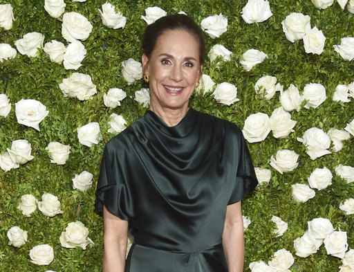 Laurie Metcalf arrives at the 71st annual Tony Awards at Radio City Music  Hall on Sunday, June 11, 2017, in New York. (Photo by Evan  Agostini/Invision/AP)