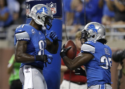 Joique Bell, Calvin Johnson