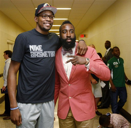 Kevin Durant, James Harden