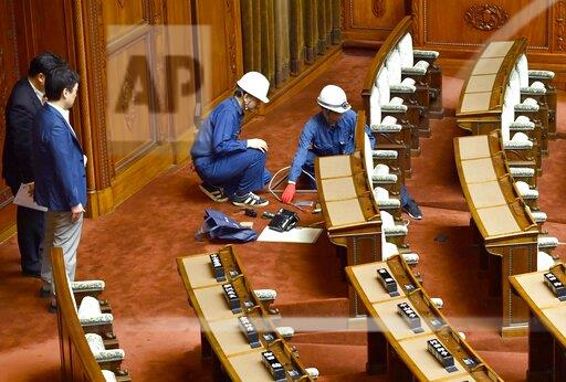 Renovation of Japan's upper house for lawmakers with physical disabilities