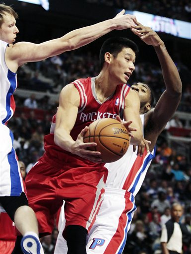 Jeremy Lin, Kyle Singler, Andre Drummond