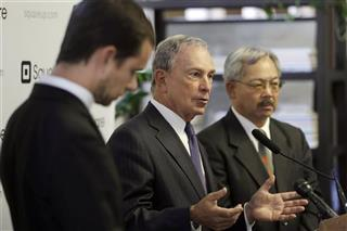 Michael Bloomberg, Jack Dorsey, Ed Lee