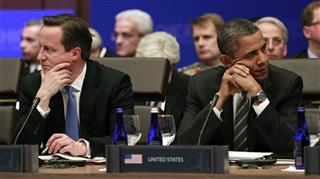 Barack Obama, British Prime Minister David Cameron