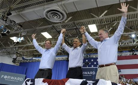 Barack Obama, Tim Kaine, Mark Warner