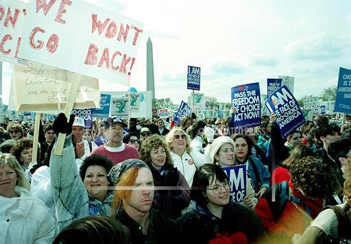 Associated Press Domestic News Dist. of Columbia United States U.S. MARCH FOR WOMENS LIVES 1992