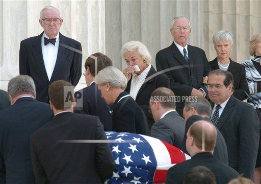 Associated Press Domestic News Dist. of Columbia United States SCOTUS REHNQUIST FUNERAL