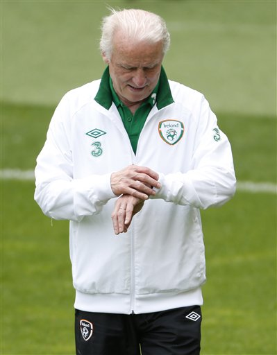 Soccer Euro 2012 Ireland Training