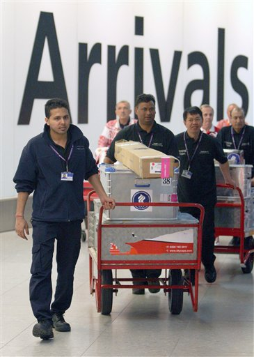 Olympics - Team arrive at Heathrow Airport