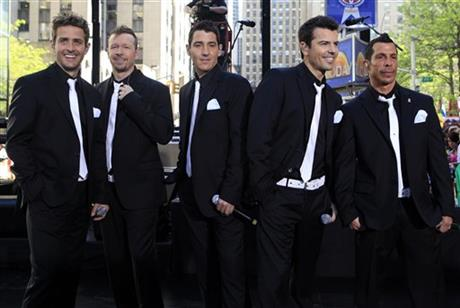 Jordan Knight, Jonathan Knight, Joey McIntyre, Donnie Wahlberg and Danny Wood