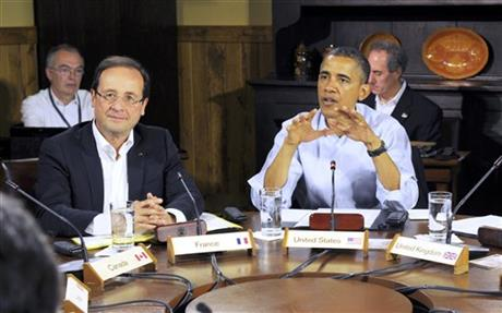 Francois Hollande, Barack Obama