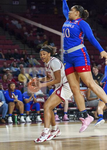 COLLEGE BASKETBALL: FEB 26 Women's Kansas at Oklahoma