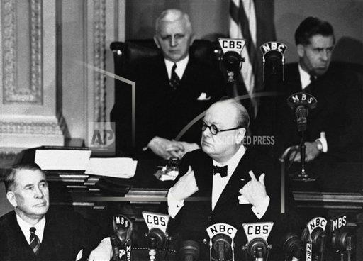 Watchf AP I  DC USA APHSL22665 Winston Churchill Addresses Congress