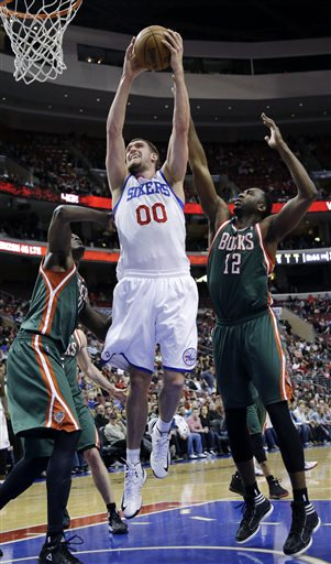 Spencer Hawes, Samuel Dalembert, Luc Richard Mbah a Moute