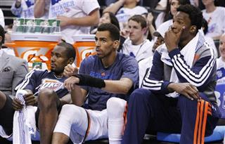 Serge Ibaka, Thabo Sefolosha, Hasheem Thabeet
