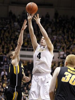 Robbie Hummel, Eric May, Aaron White