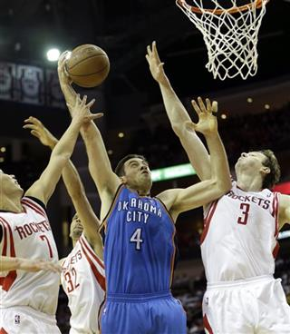 Nick Collison, Omer Asik, Francisco Garcia, Jeremy Lin