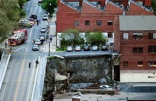 Collapsed Wall
