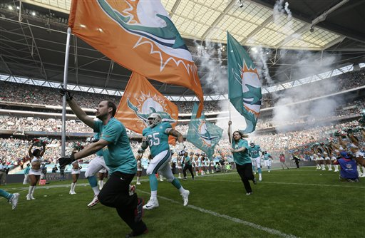 Britain Jets Dolphins Football