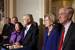 Harry Reid, Tim Kaine, Mazie Hirono, Elizabeth Warren, Angus King