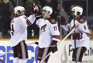 Keith Yandle, Radim Vrbata, David Schlemko