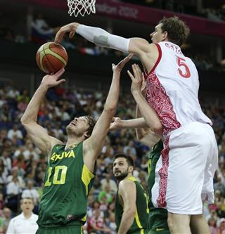 Timofey Mozgov, Simas Jasaitis