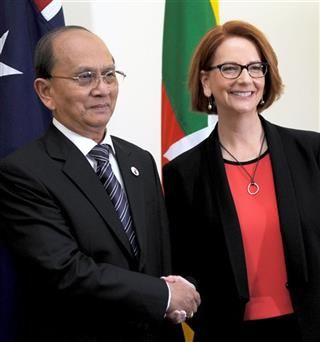 Julia Gillard, Thein Sein