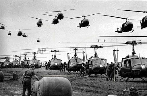 Associated Press International News Vietnam VIETNAM WAR U.S. HELICOPTERS GAS