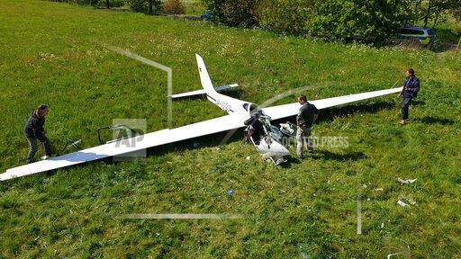 Pilot crashes with glider