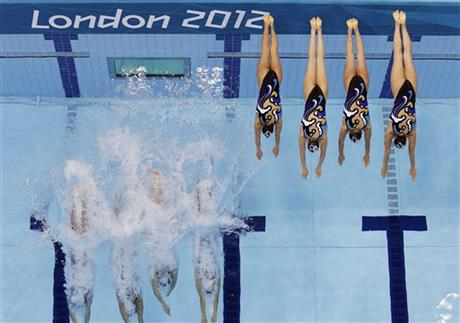 APTOPIX London Olympics Womens Synchronized Swimming